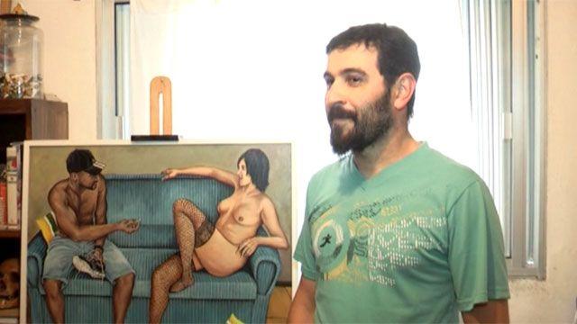 Artista que pintó a Mujica y Topolansky desnudos no venderá la obra