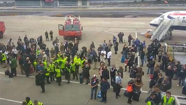 Uruguayos entre los evacuados de aeropuerto de Londres por incidente químico