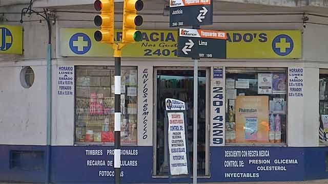 Policía de particular evitó rapiña en farmacia de La Comercial