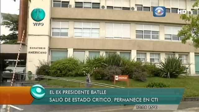 Ex presidente Jorge Batlle sigue grave pero salió del estado crítico