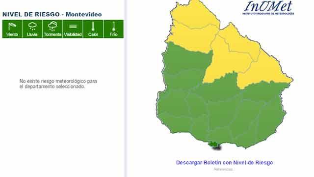 Alerta naranja baja a nivel amarillo en el norte del país