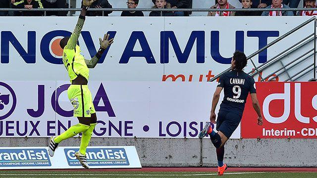 Otro gol de Cavani en el PSG, que llegó a 9 en la Liga 1 de Francia