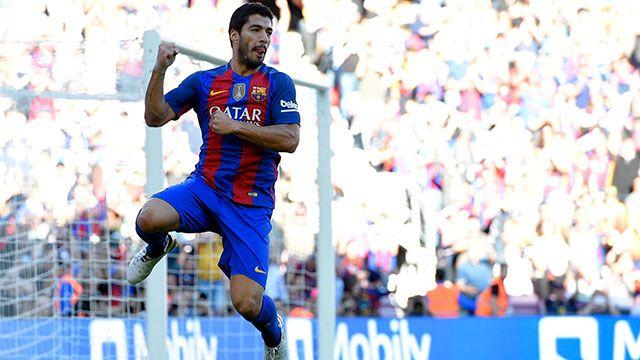 Mirá el gol de Luis Suárez para el 4-0 del Barça ante Deportivo La Coruña