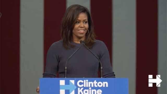 Michelle Obama indignada llama a una reacción nacional contra Trump