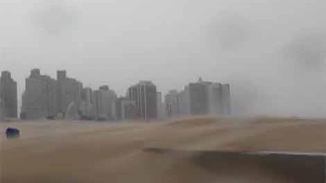 Meteorología corrigió alerta por tormentas: vientos llegarán a 75 km/h