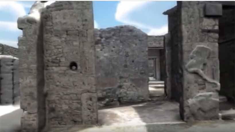 Pasear por Pompeya antes de la erupción es posible gracias a un video 3D