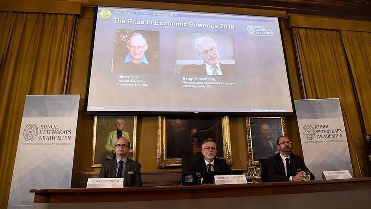 Teoría de los contratos galardonada con el Premio Nobel de Economía 2016