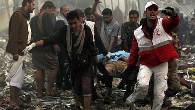 Al menos 100 personas murieron tras bombardeo en Yemen