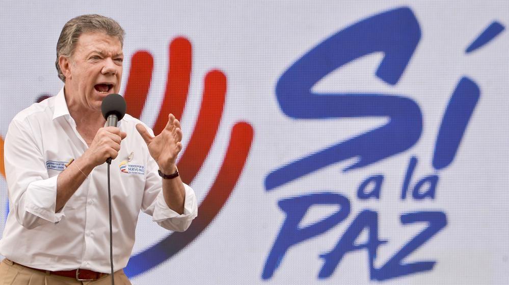 Presidente de Colombia, Premio Nobel de la Paz 2016 por acuerdo con FARC