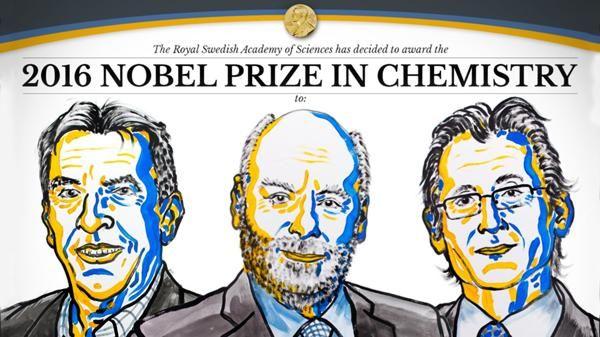 Nobel de Química 2016 para desarrolladores de máquinas moleculares.