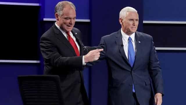 Compañeros de fórmula de Clinton y Trump se enfrentan en duro debate