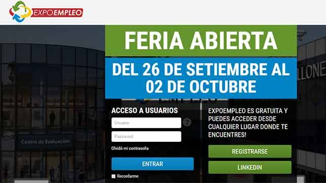 EXPOEMPLEO: la feria virtual de ofertas de empelo abierta hasta el domingo