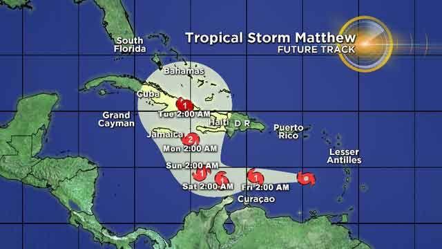 Huracán Matthew sube a categoría 4 y amenaza Colombia, Venezuela y Cuba
