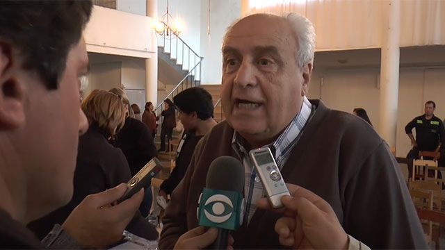 Lascano esperó al ministrio Rossi con protestas por el estado de las rutas