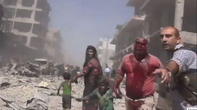 Una mortífera oleada de bombardeos se abate sobre la ciudad siria de Alepo