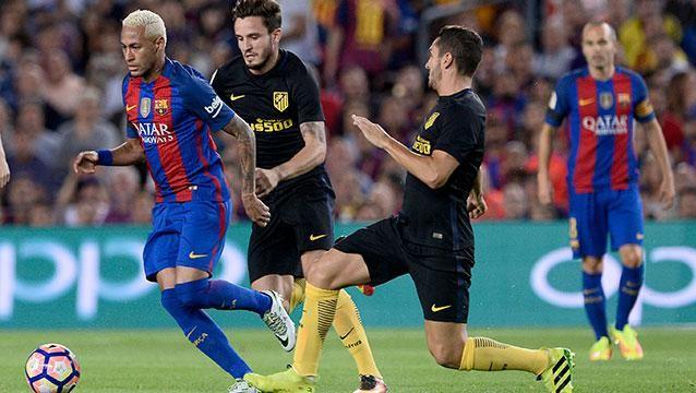 Suárez y Godín titulares en el empate 1-1 entre Barcelona y el Atlético