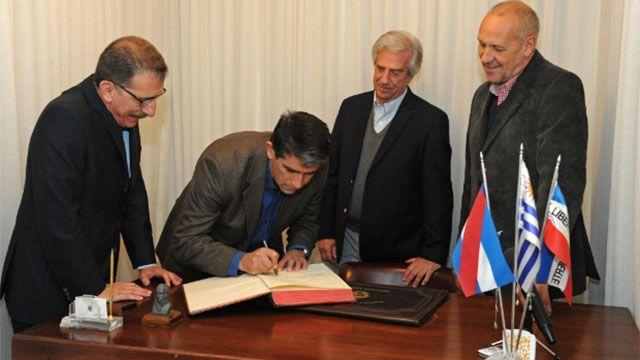 Vázquez viajó a Nueva York para participar de la Asamblea General de ONU