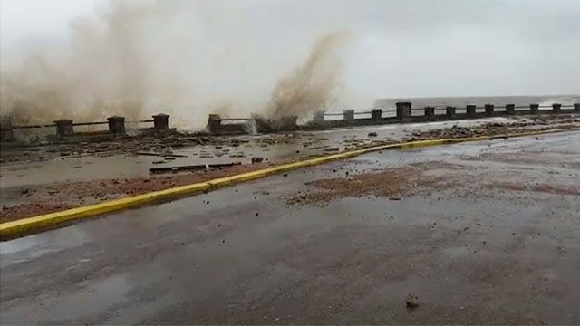Advierten riesgo al circular por rambla de Piriápolis dañada por temporal