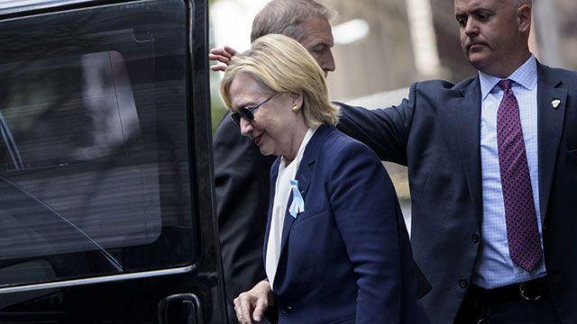 Hillary sufre una enfermedad respiratoria y debió suspender la campaña