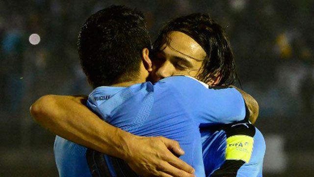 Luis Suárez y Edinson Cavani