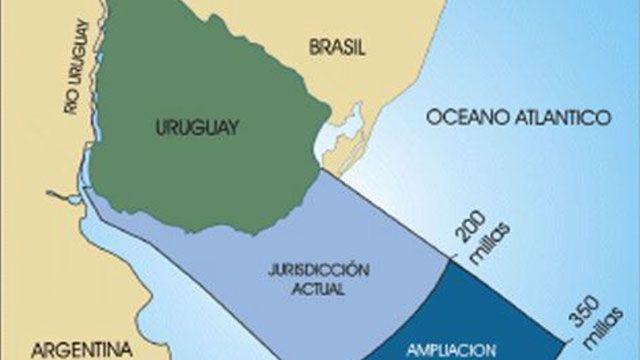 Plataforma marítima de Uruguay se amplía a 350 millas náuticas