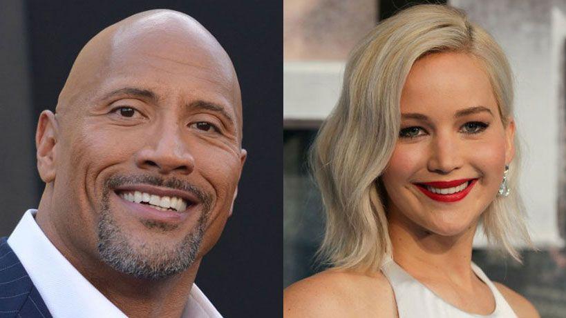 """Dwayne Johnson y Jennifer Lawrence, los actores """"mejor pagos del cine"""""""