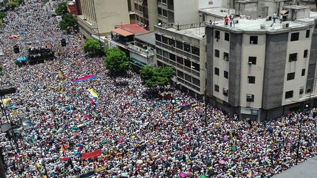 Oposición venezolana afirma que más de un millón marcharon contra Maduro