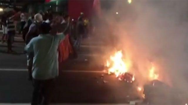 Manifestaciones en Brasil en plena caída de Dilma: fuego, gases y detenidos