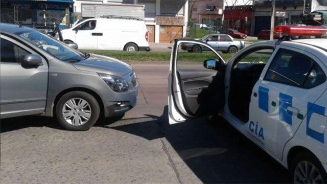 Persecución a 4 delincuentes terminó en la puerta del Hospital Policial