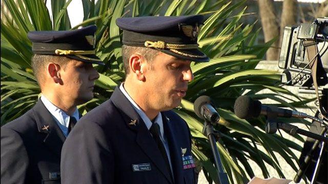 Emotivo discurso de despedida a los pilotos fallecidos en helicóptero caído