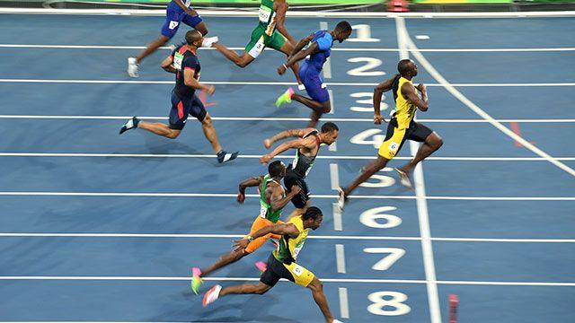 la historia de los 100 metros y c mo es la t cnica de m xima velocidad jjoo r o 2016. Black Bedroom Furniture Sets. Home Design Ideas