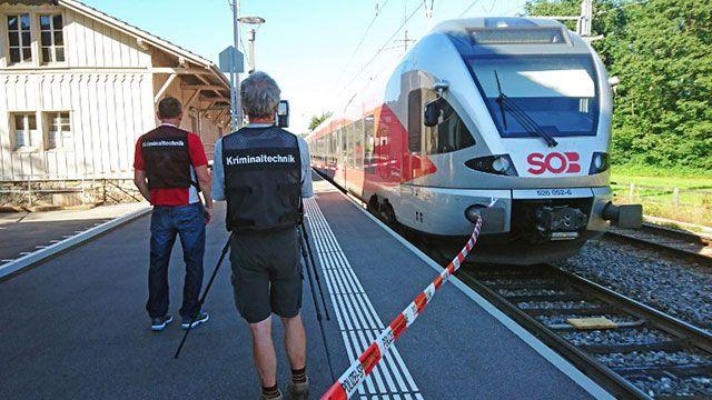 5 heridos y 1 fallecida en ataque con fuego y a puñaladas en tren suizo
