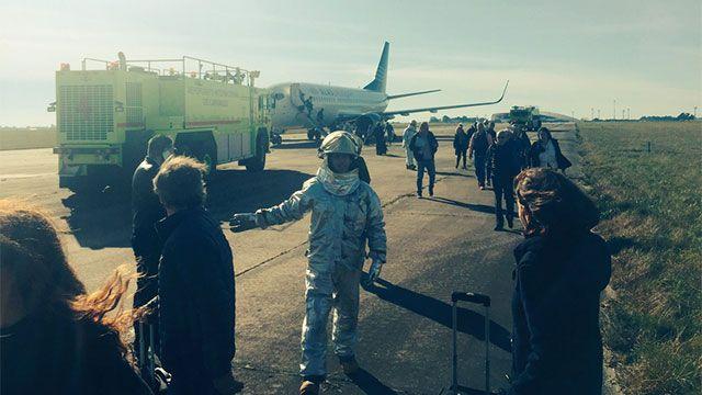 Amenaza de bomba en avión de Alas-U; inspección no detectó ningún artefacto