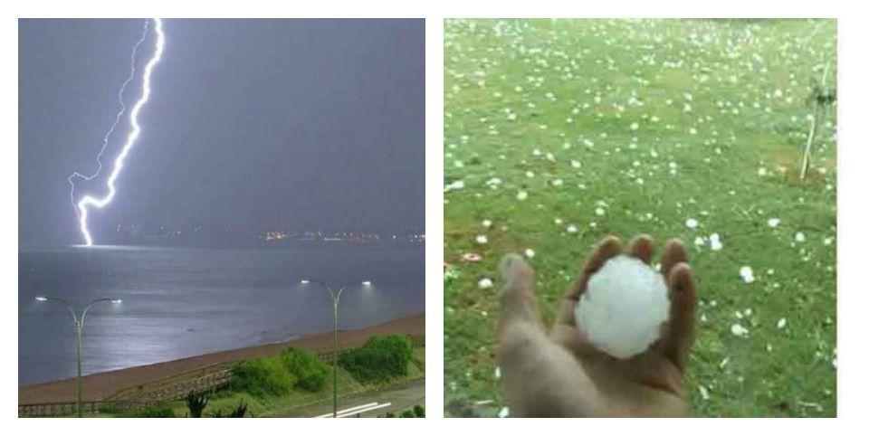 Rayos y granizo, furia del cielo sobre Uruguay muestra el cambio climático