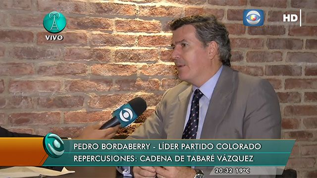 Bordaberry cuestionó a Vázquez por no referirse a ANCAP en cadena nacional