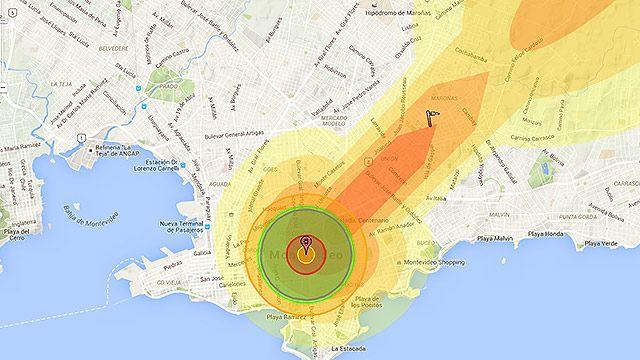 ¿Qué pasaría si cayera una bomba nuclear sobre Montevideo?