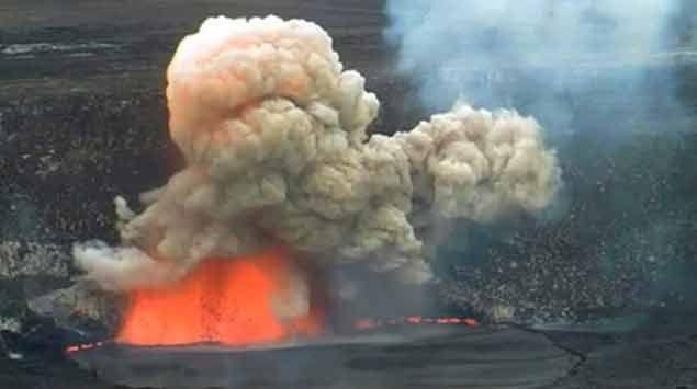 Volcán hace erupción en Hawaii