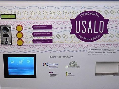 Instalan máquinas expendedores de condones en Mides e INJU
