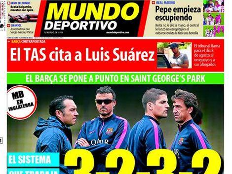 TAS citó a Luis Suárez y sus abogados para el 8 de agosto