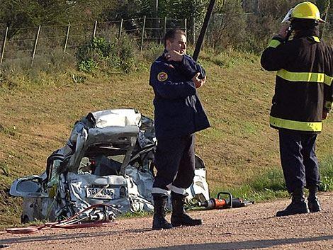 Accidente fatal con ómnibus de Cita en Ruta 5
