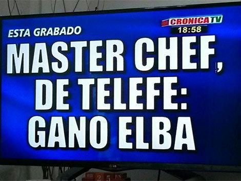 Crónica TV aguó la final de MasterChef en Argentina