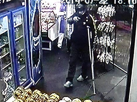Rapiñero con muletas robó la misma panadería por tercera vez