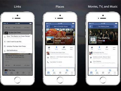 """Facebook tiene nueva aplicación: """"Guardar para ver más tarde"""""""