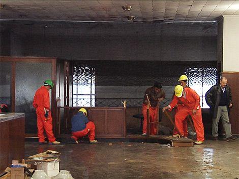 Presos comenzaron trabajos en sede de víctimas de la delincuencia