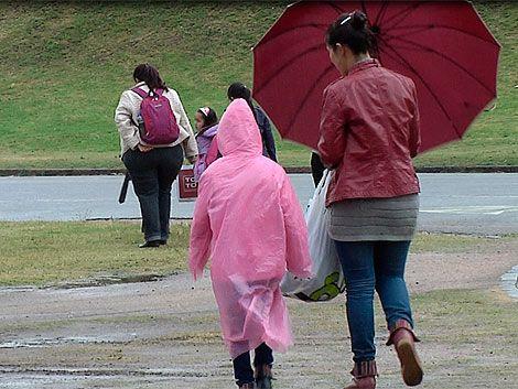 Alerta amarilla por lluvias abundantes para sur y este del país