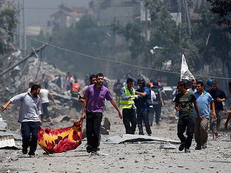 Domingo mortífero en Gaza: 96 palestinos y 13 israelíes