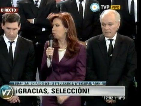 Presidenta argentina a la selección: fueron unos leones