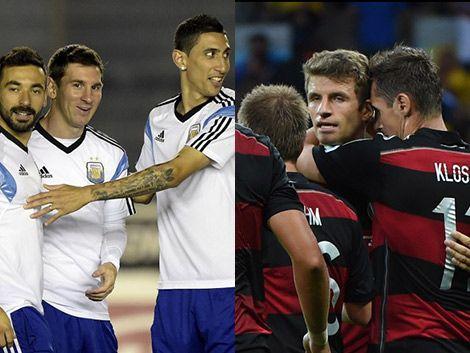 Argentina y Alemania por la gloria en la gran final del Maracaná