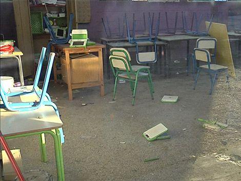 Nuevo ataque a una escuela: rompieron muebles y ceibalitas