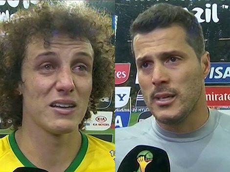 Julio César y David Luiz pidieron disculpas al pueblo brasileño